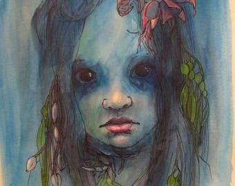 Seaweeds - original daily painting by Kellie Marian Hill