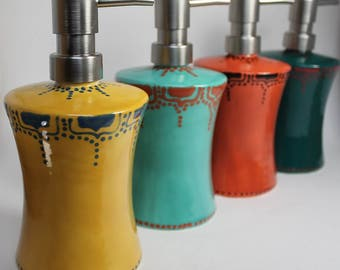 Ceramic Soap Dispensers - choice of color