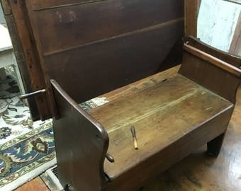 Antique hutch table bench seat 26d45w18.5h30h Shipping is not free