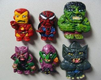 Super Heroes VS Super Villains Magnet Set B (Fullbody/cutie style)