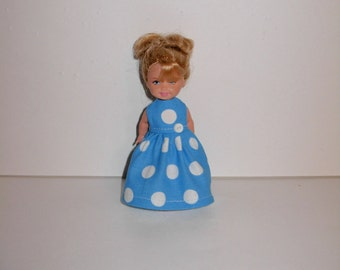Pretty dress for barbies' little sister Kelly or Chelsea dolls, Handmade barbie clothes