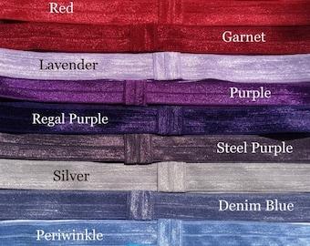 30% OFF SPRING SALE New Colors - U Choose 10 Shimmer Stretch Elastic Interchangable Headbands - Fits Premies, Infants Toddlers, Big girls, T