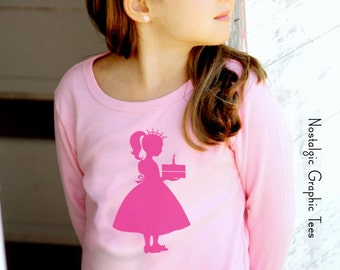 Birthday Princess, Long Lettuce Sleeves by Nostalgic Graphic Tees