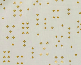 Cotton + Steel - Rifle Paper Co. - Wonderland - COTTON LAWN Follow Suit in Cream Metallic