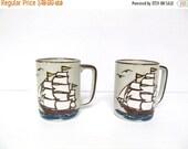 ON SALE Vintage Coffee Mug, Clipper Ship, Sailing, Nautical