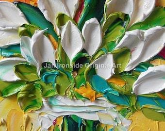 Tulip Oil Painting, Original artwork, unique gift, Jan Ironside, impressionist