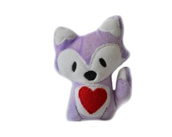 Plush Fox | Nursery Decor | Woodland Animal | Stuffed Fox | Fox Toy | Purple Fox Plush | Valentines Day | Gifts for Her | Kawaii Plush
