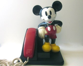 Vintage Mickey Mouse Phone Touch Tone Disney Memorbalia