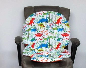 Graco Duodiner or Blossom high chair pad, baby accessory replacement pad, child chair cushion, kids furniture, feeding chair pad, dinosaurs