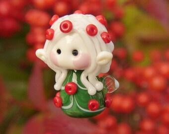 Cute little Christmas Fairy glass bead