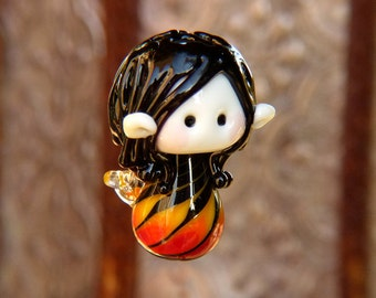 Fairy of Flames glass bead