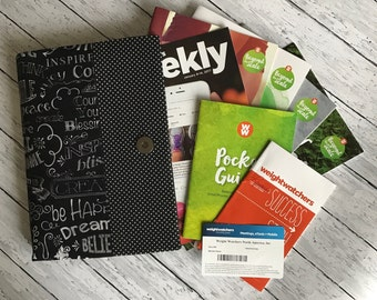 Weight Watchers 2017 SmartPoints Program ~ Deluxe Organizer ~ New Plan Books ~ Weekly Handouts~ Weigh In - Monthly Pass~Holder ~ 48 Fabrics.
