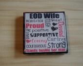 EOD wife subway art 2X2 Square Magnet for Magnet bulletin board, Refrigerator Magnet