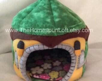 Fairy Troll House for Hedgehog Guinea Pig  Pocket Pet House Fleece Pet Home Custom Order Item Made to Order