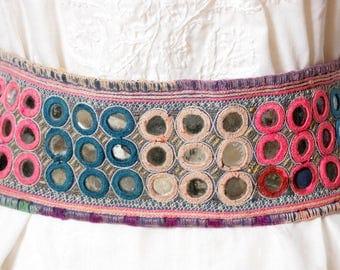 FREE SHIPPING!! Banjara, Tribal, Belt, Belly Dancing, Boho, Gypsy, Kutch, Kuchi, Mirrors, Embroidered
