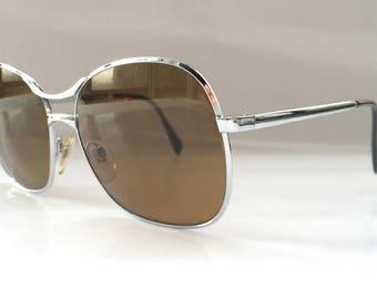 Rare Old School Style Rodenstock 80s Metal Sunglasses