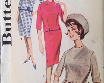 Vintage 60s 2 piece Dress Pattern Skirt Blouse Top Shirt 34 bust