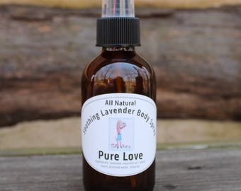 All Natural Soothing Lavender Body Spray,
