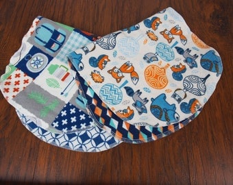 Forest animal burp cloth and camping burp cloth