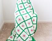 Vintage Granny Square Crochet Afghan - Excellent Condition!