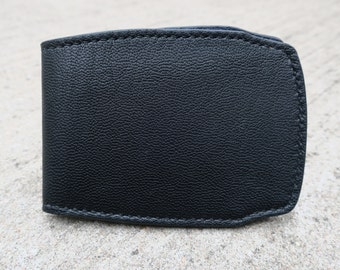 Black and blue goathide bifold