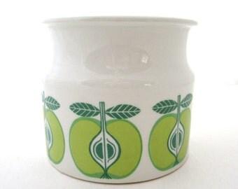 ARABIA FINLAND Jam Jar Green Apples 1960s Retro Mid Century