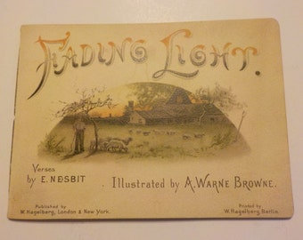 Victorian Antique Fading Glory E. Nesbit Germany Illustrated Little Poetry Gift Book