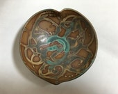 Heart-shaped Turquoise Jewelry Bowl