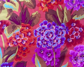 Philip Jacobs Primula , orange, OOP, hard to find, Kaffe Fassett collective, half yard, yardage available