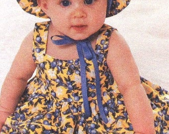 Baby Sundress Sewing Pattern UNCUT Simplicity 9784