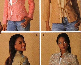 Jacket Sewing Pattern UNCUT Simplicity 4256 Sizes 6-14