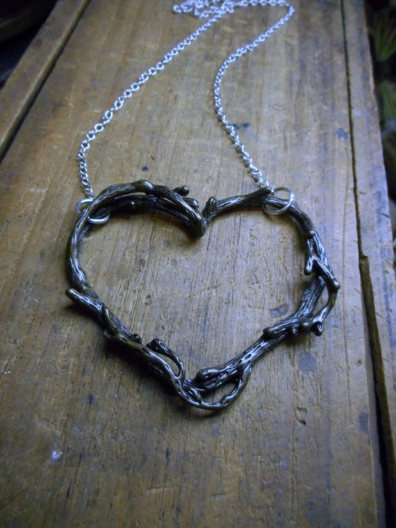 Rustic Love Tree Branch Twig Tangled branches Heart Cut Out