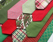 Little and Big Guy NECKTIE Tie - Holiday Christmas Red Green Gold Collection - (Newborn-Adult) - Baby Boy Toddler Teen Man