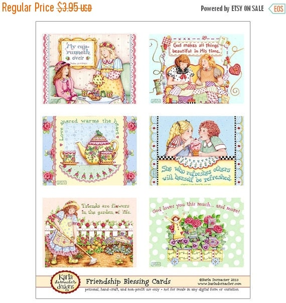 50% OFF SALE Friendship Blessing Cards INSTANT Download Digital Christian Printable Bible Verse Scripture Religious Kd132