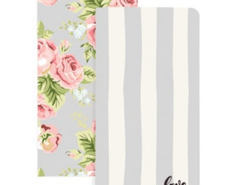 Love Stripe & Floral W/32 Gray Sheets Color Crush Travelers Notepad Inserts Set 2/Pkg (NP107)
