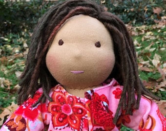Waldorf Doll 13 Inch Waldorf Inspired Noble Doll Michelle Made to Order