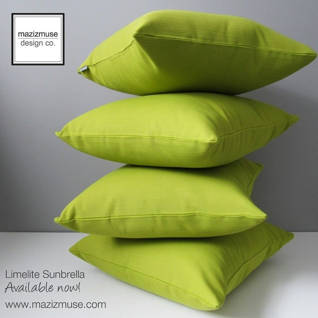 Modern Sunbrella Pillows for Outdoor & Indoor Spaces by Mazizmuse