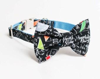 Dog Bow Tie Collar- Adjustable Dog Collar- Mathlete