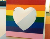 Rainbow Heart Picture Frame