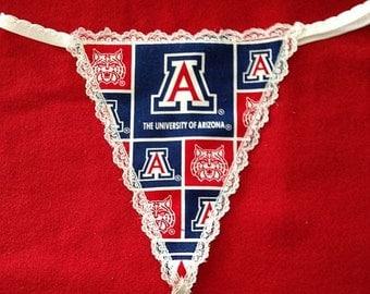 Womens University of ARIZONA G-String Thong Panty Lingerie