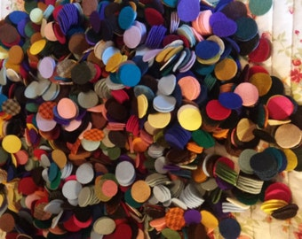 "110 7/8-1"" New colors added  Wool penny rug circles"