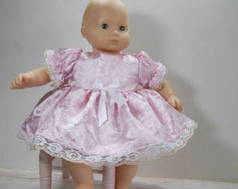 15 inch doll clothes made to fit dolls such as Bitty Baby, Pink Satin Dress with Panties, 03-1992