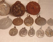 13Pc Vintage Religious Medals Lot Catholic Medals Pray Prayer Resell Lot Resale Lot Vintage Medal Lot Religious Lot Religious Medal
