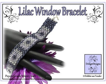 Beading Pattern, Tutorial, Bracelet - LILAC WINDOWS