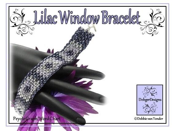 Beading Pattern, Tutorial, Bracelet - LILAC WINDOWS