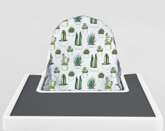 Cacti and Succulents // IKEA Antilop Highchair Cover // High Chair Cover for the PYTTIG Cushion // Pillow Slipcover