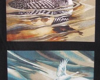 North American Wildlife 5 Earth Birds Robert Kaufman Fabric 5 Block Panel