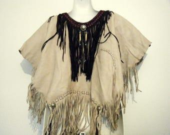 Vintage Native American Indian Buckskin War Shirt