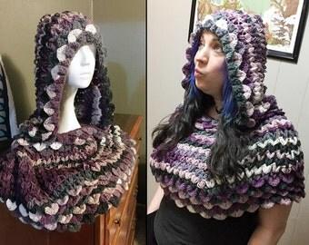 Crochet Capelet, Crocodile Scale, Dragon Scale - Feed My Hobby SALE