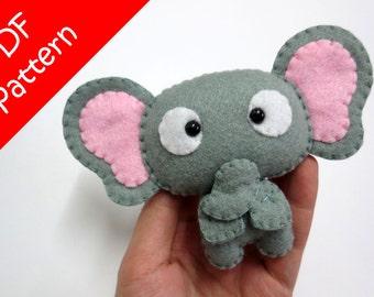 Elephant Plush PDF Pattern -Instant Digital Download